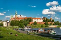 Wawel in Krakau Stockfotos