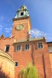 Wawel in Krakau, de toren van de kathedraal polen Stock Foto