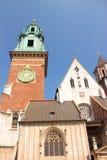 Wawel in Krakau, Koninklijke kasteel en Kathedraal van Stanislaw en Vaclav van Heilige Stock Afbeelding