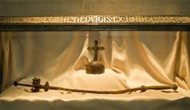 Wawel, Krakau, Polen - Begrafenisregalia van St Jadwiga Stock Afbeeldingen