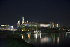 Wawel in Krakow by night, Poland, Europe Stock Images