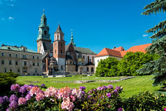 Wawel in Krakow. At the river Wisla, Poland Stock Image