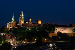 Wawel in Krakow. At the river Wisla, Poland Royalty Free Stock Photo