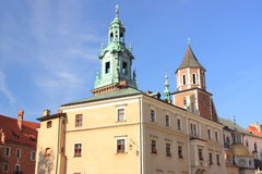 Wawel in Krakow, Royal Castle and cathedral, Poland. Stock Photos