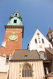Wawel in Krakow, Royal castle and Cathedral of Saint's Stanislaw and Vaclav. Stock Image