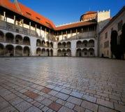 Wawel kungligt slott i Krakow, Polen Royaltyfri Bild