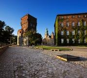 Wawel kungligt slott i Krakow, Polen Arkivbilder