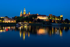 Wawel at night Royalty Free Stock Images