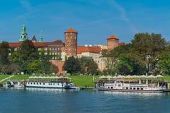 Wawel på sommar, ställe av intresse Arkivfoton