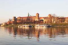 Wawel and river Stock Photography