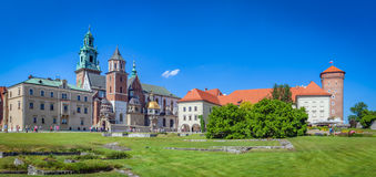 Wawel, royal castle and cathedral in Cracow, Poland Royalty Free Stock Photography
