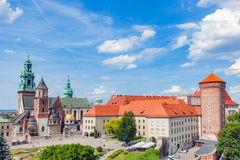 Wawel, royal castle and cathedral in Cracow, Poland Stock Photos