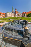 Wawel Royal Castle,Cathedral- with model of Wawel Hill- Cracow-Poland Stock Images