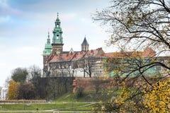 Wawel royal castle and chapel, Krakow during autumn, Poland Stock Image