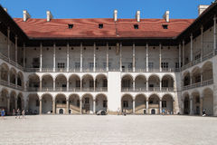 Wawel Royal Castle Courtyard Stock Photos