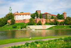 Wawel - Royal castle in Cracow Stock Image