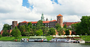 Wawel Royal Castle in Cracow Stock Image