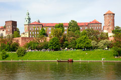 Wawel - Royal castle in Cracow, Poland Royalty Free Stock Photography