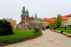 Wawel Royal Castle in Cracow, Poland Royalty Free Stock Photography