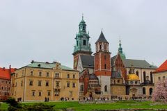 Wawel Royal Castle in Cracow, Poland Royalty Free Stock Photos