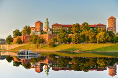 Wawel Royal Castle in Cracow. Poland, Royal Castle Wawel in Cracow, in the quiet river Vistula Stock Image