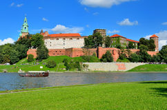 Wawel Royal Castle in Cracow, Poland. Royalty Free Stock Photography