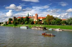 Wawel Royal Castle in Cracow Stock Images