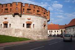 Wawel Royal Castle Fortification in Krakow Royalty Free Stock Photography