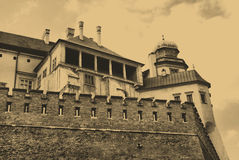 Wawel Royal Castle In Cracow Royalty Free Stock Photography