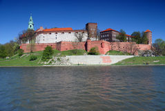 Wawel - Royal castle in Krakow Stock Images