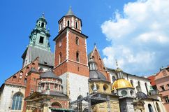 Wawel royal castle, Krakow Stock Photography
