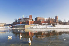 The Wawel Royal castle in Krakow Royalty Free Stock Image