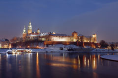 Wawel Royal Castle in Krakow Royalty Free Stock Photo