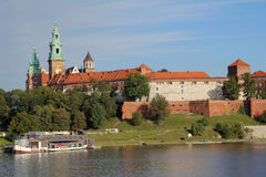 Wawel Royal Castle in Krakow Royalty Free Stock Images