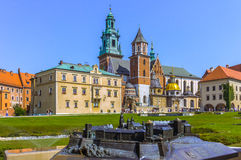 Wawel Royal Castle with model -Cracow-Poland Royalty Free Stock Photo