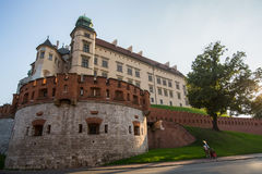 Wawel Royal Castle, residency built at the behest of King Stock Photo