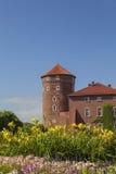 Wawel Royal Castle with Sandomierska Tower, Krakow, Poland Royalty Free Stock Image