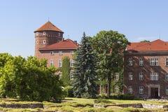 Wawel Royal Castle with Sandomierska Tower, Krakow, Poland. Royalty Free Stock Photography