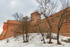 Wawel Royal castle Sandomierska tower in Krakow, Poland. Stock Images