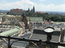 Wawel Royal Castle seen from the Town Hall Tower Stock Photo