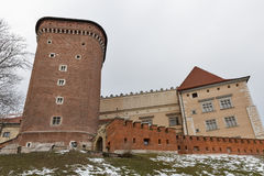 Wawel Royal castle Senator tower in Krakow, Poland. Winter Wawel Royal castle Senator tower in Krakow, Poland Royalty Free Stock Photo
