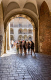 Wawel Royal Castle-tourists-Cracow- Poland Stock Image