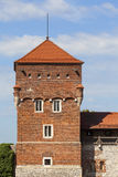 Wawel Royal Castle with Tower Thieves,  Krakow, Poland Stock Image