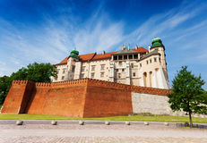 Wawel Royal Castle view in summer Stock Photos