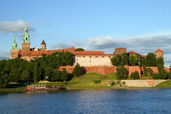 The Wawel Royal Castle and Vistula River Stock Photo