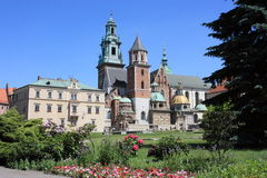 Wawel Royal Cathedral in Krakow Stock Image