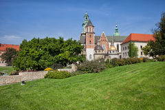 Wawel Royal Cathedral in Krakow Royalty Free Stock Images
