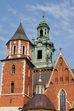 Wawel Royal Cathedral in Krakow Royalty Free Stock Photography