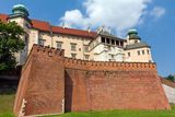wawel royal in cracow in poland on blue sky background Stock Photography
