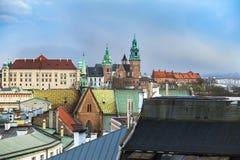 Wawel-Schloss auf einen Hügel Stockbild